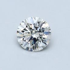 0,60-Carat Round Diamond Ideal I SI1