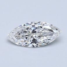 推荐宝石 1:0.50 克拉马眼形钻石