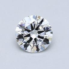 0.72-Carat Round Diamond Ideal F VVS1
