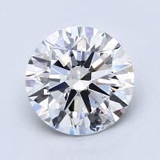 1.50 Carat 圆形 Diamond 理想 E VS1
