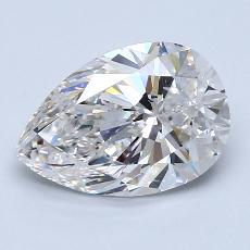 2.00-Carat Pear Diamond Very Good F VS2