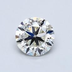 0.90 Carat 圆形 Diamond 良好 J VS2