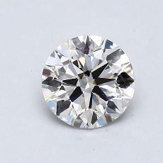0,72-Carat Round Diamond Ideal H VVS2