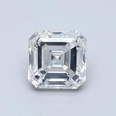 1.00-Carat Asscher Diamond Very Good F SI1