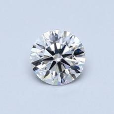 0.51-Carat Round Diamond Ideal D VVS2