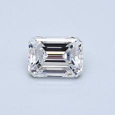 Recommended Stone #4: 0,51-Carat Emerald Cut Diamond