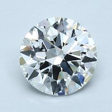 1.50 Carat 圆形 Diamond 理想 G VS2