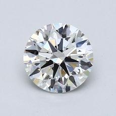 1,07-Carat Round Diamond Ideal H VVS2