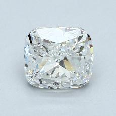推荐宝石 1:1.23 克拉垫形钻石