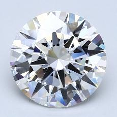 3,03-Carat Round Diamond Ideal F VVS1