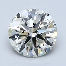 2.01-Carat Round Diamond Ideal J VVS1