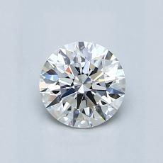 0,70-Carat Round Diamond Ideal E VS1