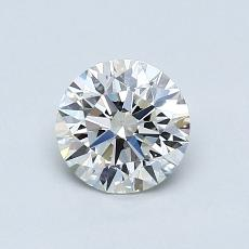 0,72-Carat Round Diamond Ideal H VS1