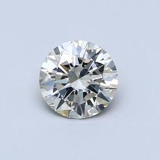 0.51-Carat Round Diamond Ideal K SI2