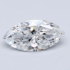 0.90-Carat Marquise Diamond Very Good D IF