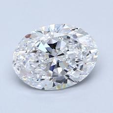 Piedra recomendada 4: Diamantes de talla ovalada de 1.20 quilates