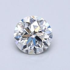 0.90-Carat Round Diamond Good F SI2
