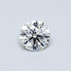 0.41-Carat Round Diamond Ideal D SI1