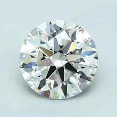 1.35-Carat Round Diamond Ideal I VS2