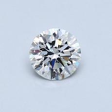 0.50-Carat Round Diamond Ideal F VS1