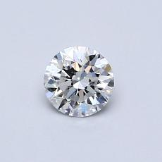 0.41-Carat Round Diamond Ideal E VS1