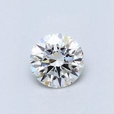 0.51-Carat Round Diamond Ideal G VVS1
