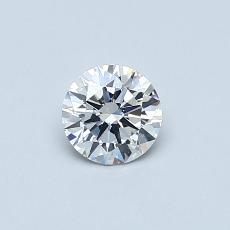 0.40-Carat Round Diamond Ideal F VS2
