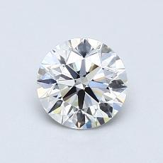0.75 Carat 圆形 Diamond 理想 F VS1