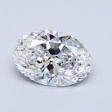 0.90-Carat Oval Diamond Very Good D SI2
