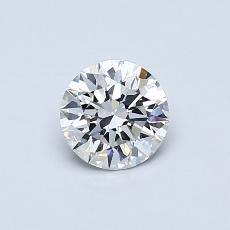 0.54-Carat Round Diamond Ideal E VS1