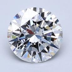 2.01 Carat 圓形 Diamond 理想 F VVS2