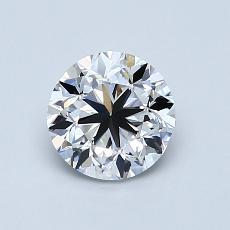 1.00 Carat 圓形 Diamond 良好 D VVS2