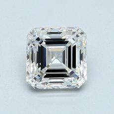 1.00-Carat Asscher Diamond Very Good G VVS2