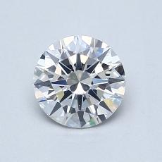 0.70-Carat Round Diamond Ideal F SI1