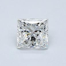 0,81-Carat Princess Diamond Very Good F VVS1