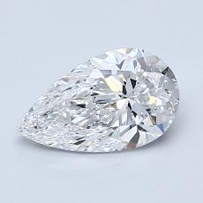 1.01 Carat 梨形 Diamond 非常好 D VVS1