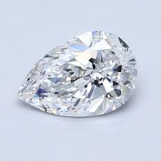 1.00-Carat Pear Diamond Very Good D SI1