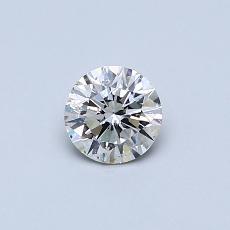 Pierre recommandée n°4: Diamant taille ronde 0,40 carat