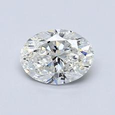 0,80 Carat Ovale Diamond Très bonne H VS1