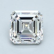 Pierre recommandée n°1: Diamant taille Asscher 1,70 carat