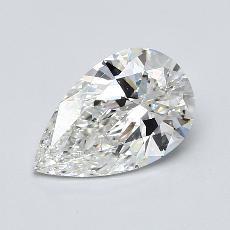 Piedra recomendada 1: Diamante en forma de pera de1.60 quilates