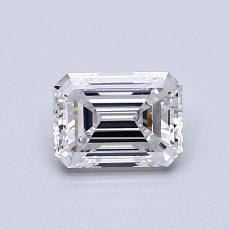 0,71 Carat Émeraude Diamond Très bonne D VVS1