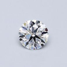 0.41-Carat Round Diamond Ideal D VVS1