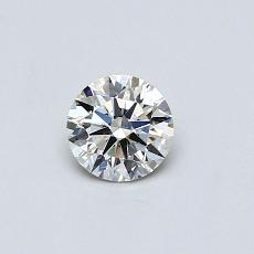 0.31-Carat Round Diamond Ideal J SI1