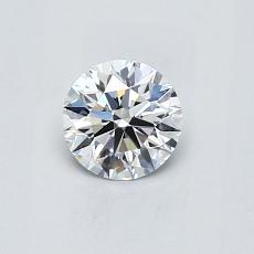 0.50 Carat 圓形 Diamond 理想 D VVS2