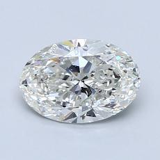 1.01 Carat 橢圓形 Diamond 非常好 H SI1