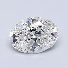 Piedra recomendada 4: con diamante Talla ovalada de 1.01 quilates