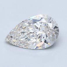Recommended Stone #3: 1.00-Carat Pear Cut Diamond