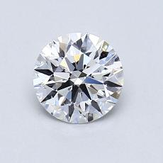 0.80-Carat Round Diamond Ideal D VS2