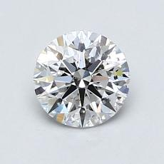 0.50-Carat Round Diamond Ideal D SI2
